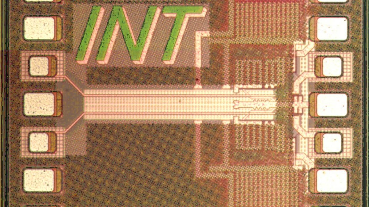 Chipfoto linearer Breitbandverstärker