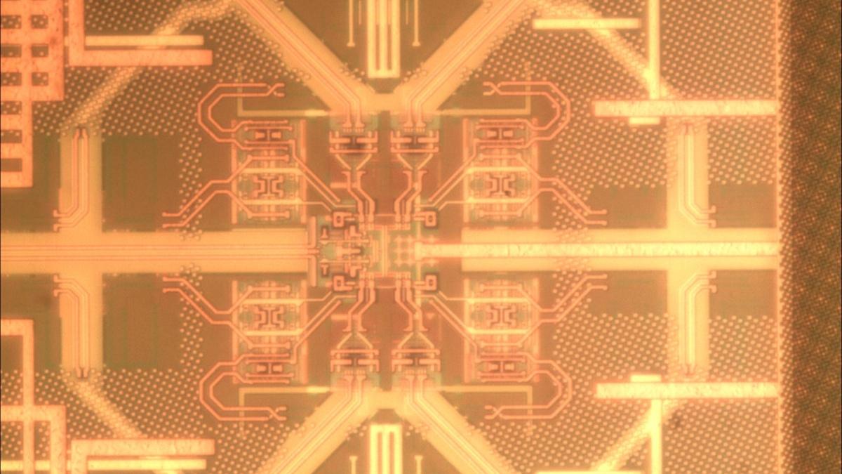 Chipfoto Kern des 1:4 Demux