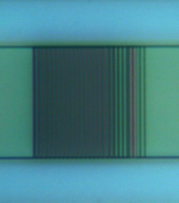 Detailansicht eines aperiodischen Gitterkopplers